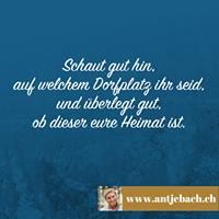 Antje Bach, Zitat, Zitatekarte, inspiriert, Heimat, Dorfplatz, Aufmerksamkeit, Zugehörigkeit, Privatleben