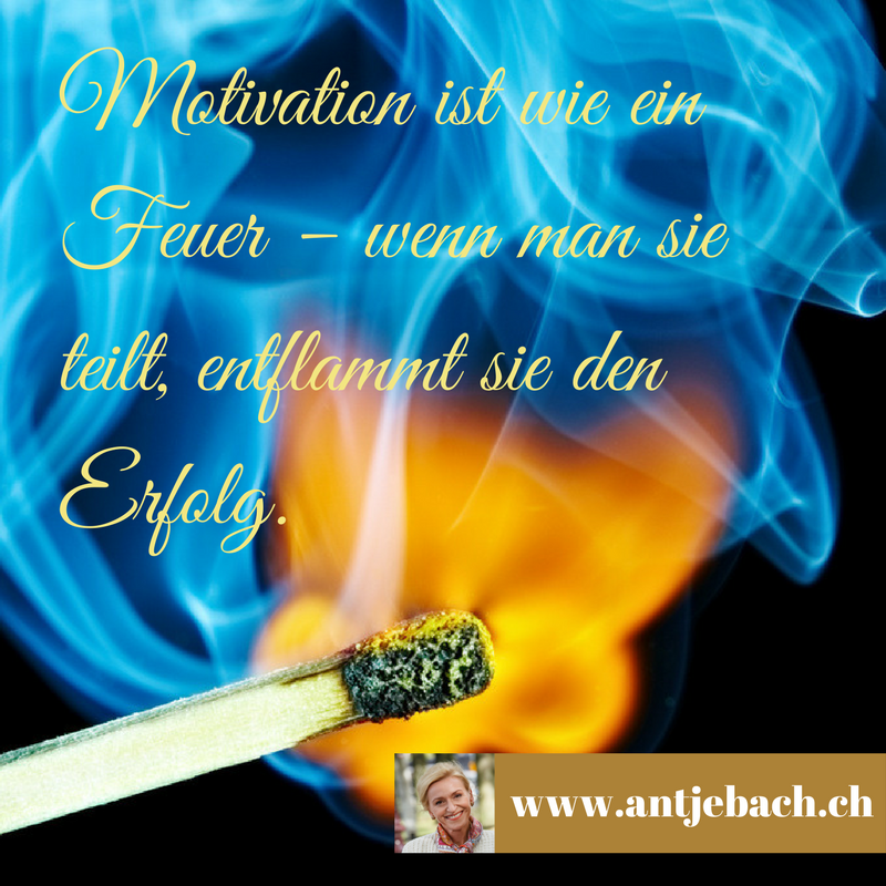 Antje Bach, Zitat, Zitatekarte, inspiriert, Motivation, Feuer, Erfolg, Unternehmen, Flamme
