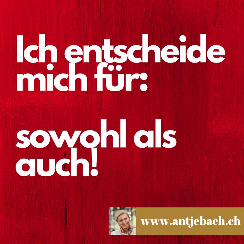 inspiriert, Antje Bach, Entscheidung