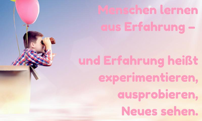 Antje Bach, inspiriert, Zitat, Zitatekarte, Erfahrung, experimentieren, Experiment