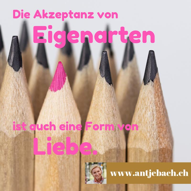 Antje Bach, inspiriert, Eigenarten, Liebe