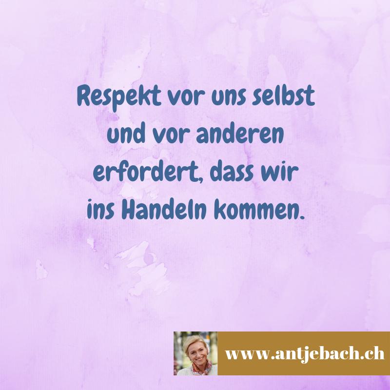 Antje Bach, Respekt, Nächstenliebe