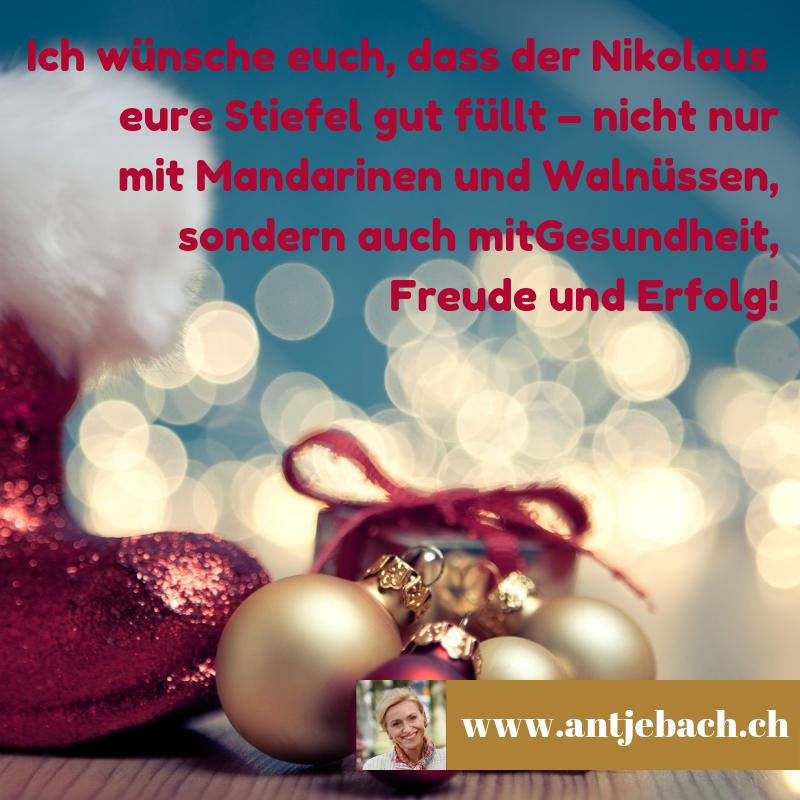 Antje Bach, Inspiriert, Zitat, Zitatekarte, Nikolaus, Gesundheit, Erfolg, Freude