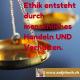 Inspiriert, Zitat, Antje Bach, Ethik, Handeln